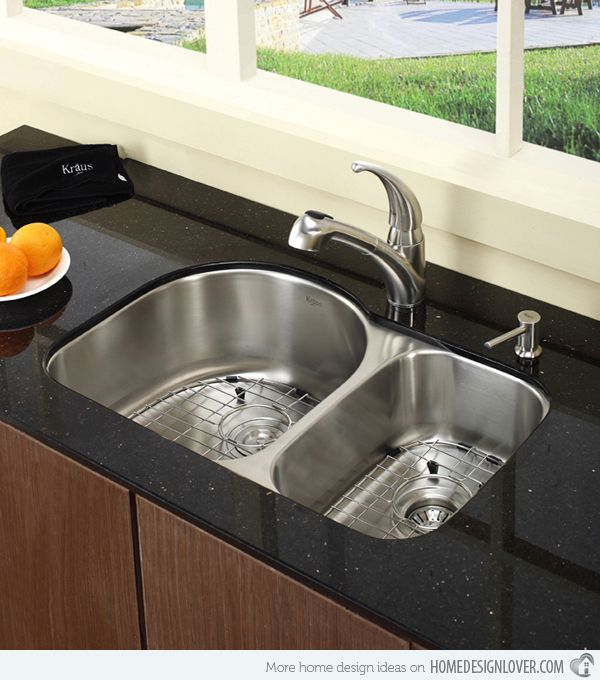 Kitchen Double Sinks 15 functional double basin kitchen sink workwithnaturefo