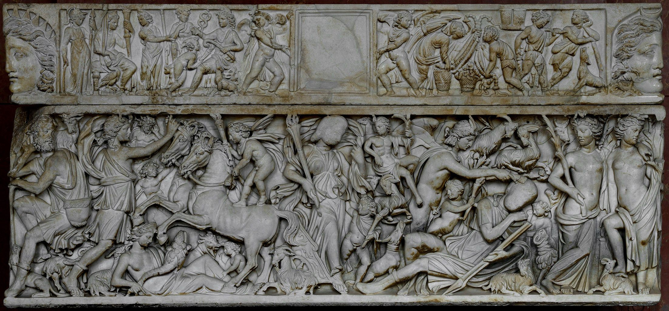 Marble Sarcophagus of Endymion and Selene, early 3rd century, Louvre museum