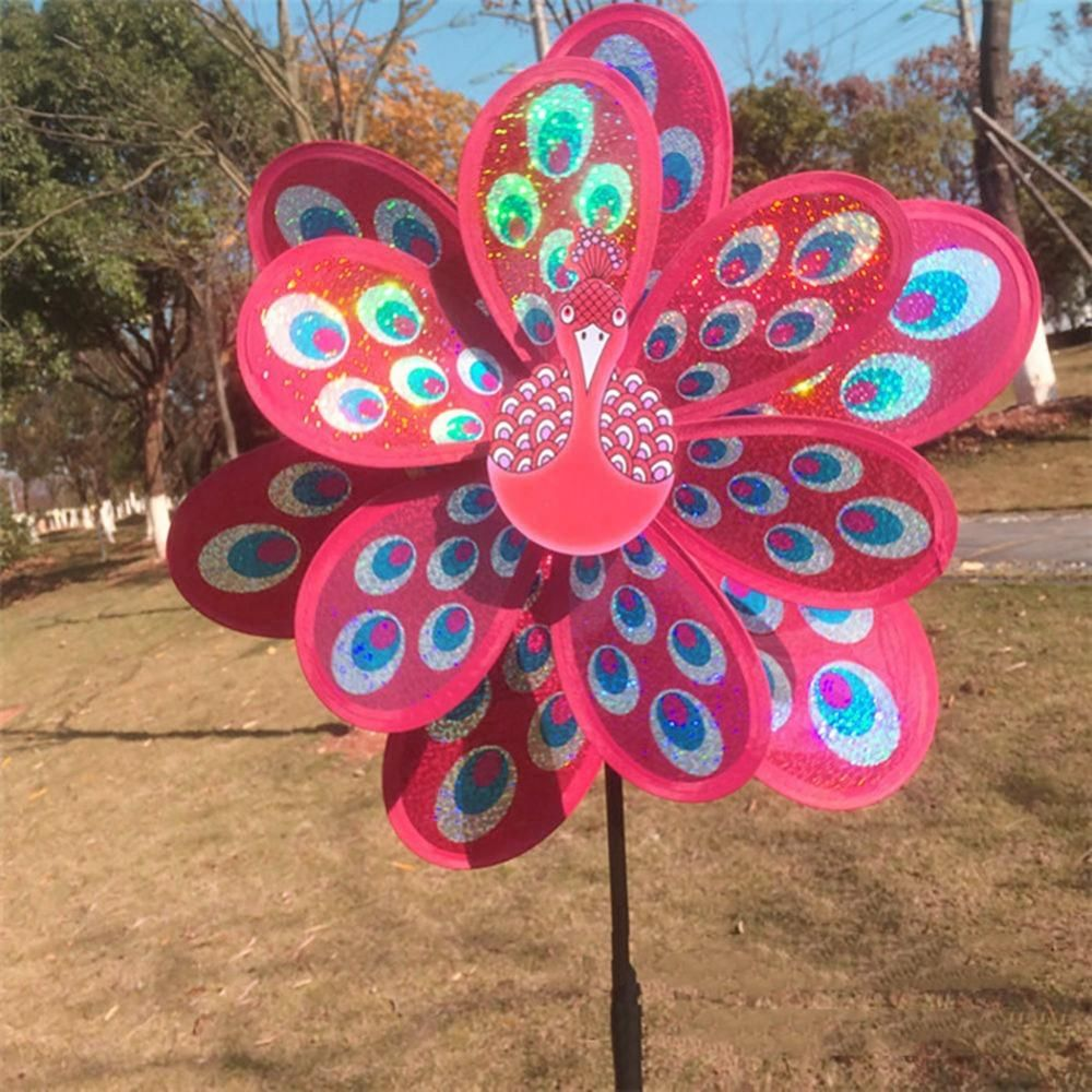 Kids Toy Colorful Sequins Windmill Wind Spinner Home Garden Yard Decoration UK