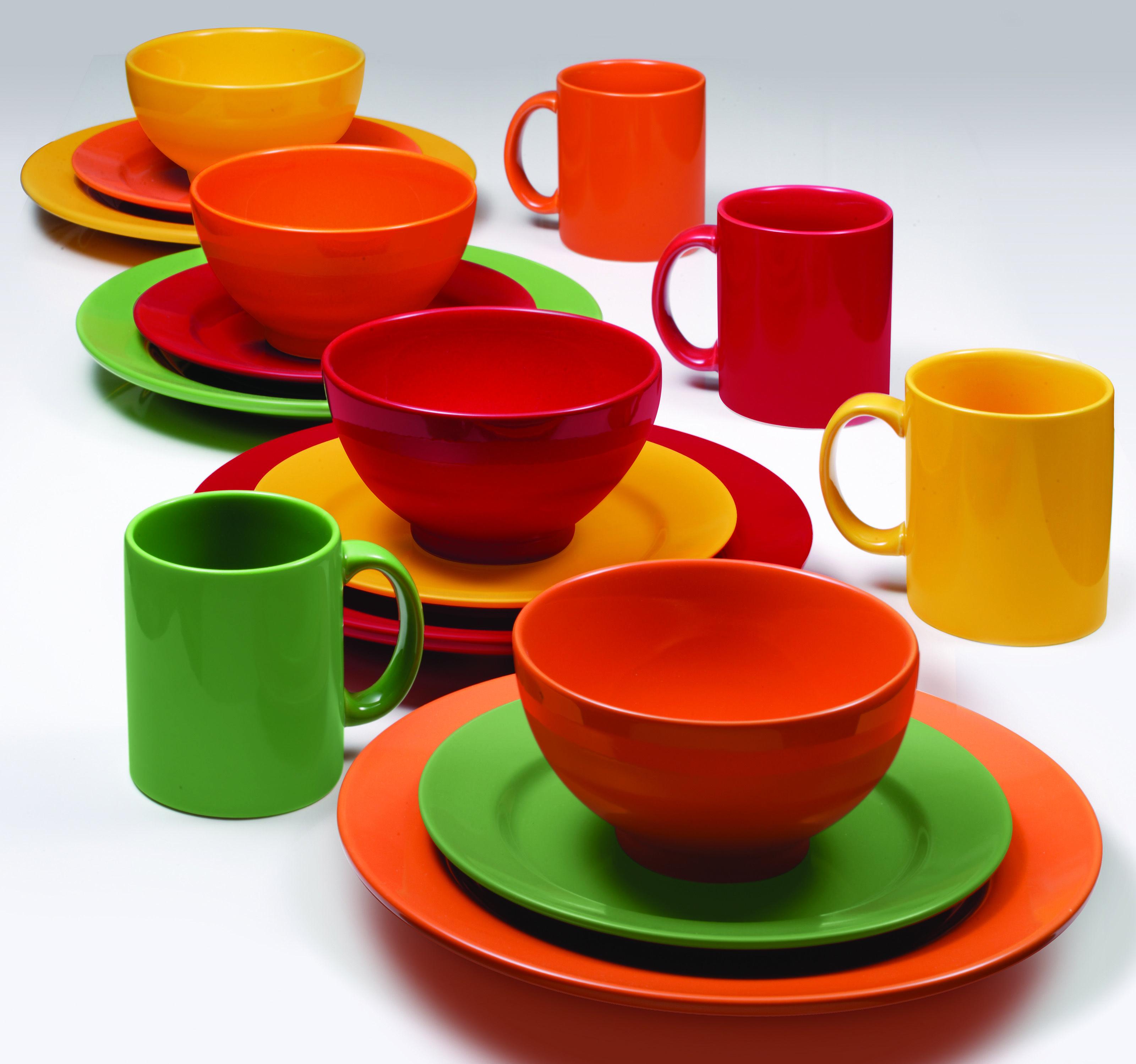 Waechtersbach Fun Factory - solid color ceramic dinnerware - great mix-and-match look & Waechtersbach Fun Factory - solid color ceramic dinnerware - great ...