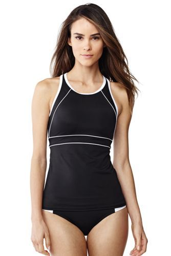 d6239cedc3 Women s+AquaSport+High-neck+Tankini+Top+from+Lands +End