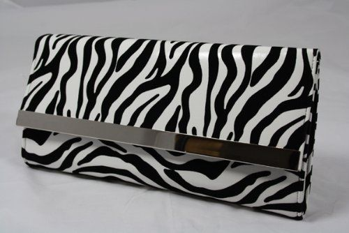 LARGE NEW ANIMAL CLUTCH BAG BLACK AND WHITE CLUTCH BAG