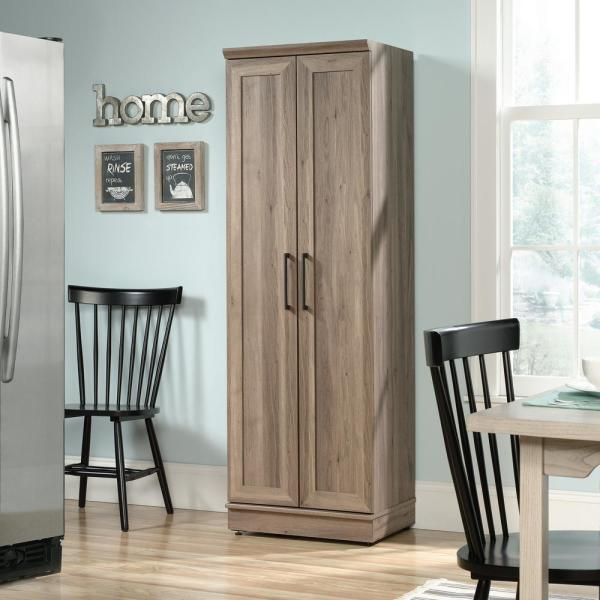 SAUDER HomePlus 23 in. Salt Oak Wide Storage Cabinet ...