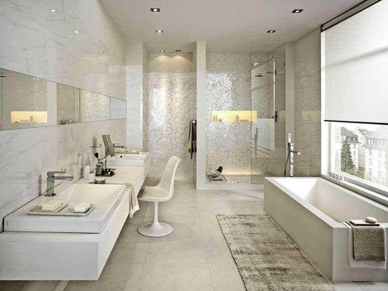 piastrelle bagno moderno - piastrelle moderne bianche marazzi ... - Piastrelle Bianche Ceramica