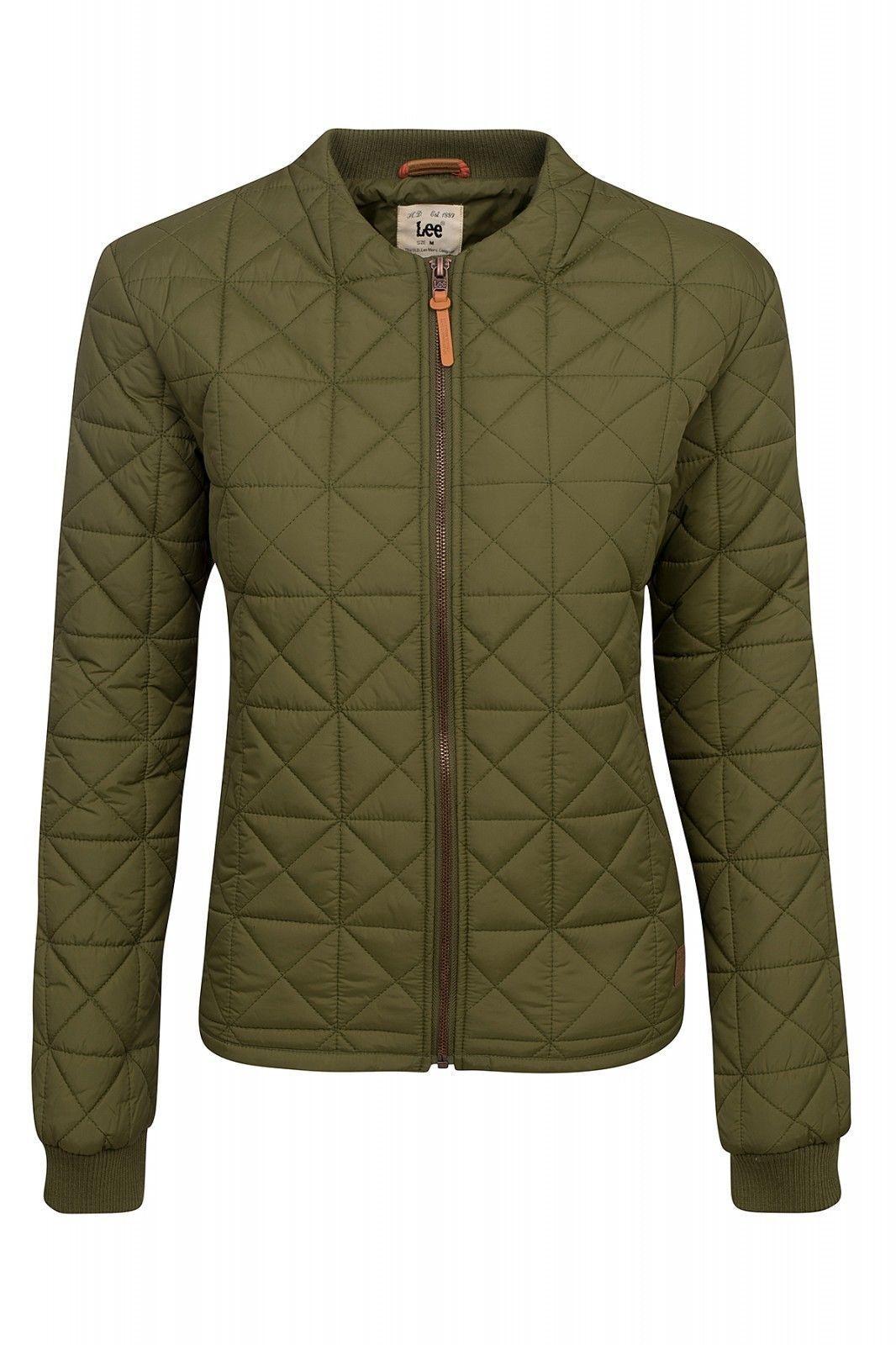 4c69cbf2c44 Lee Nylon Bomber Jacket Ladies Quilted Green Women S Sale Wow ...