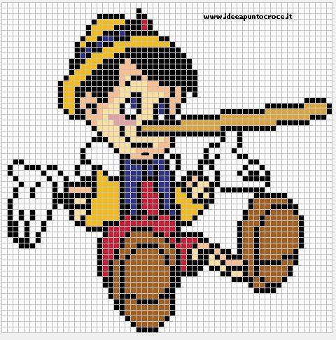 Pinocchio pattern by syra1974 on deviantART