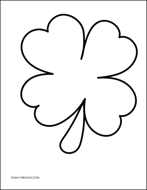 cut and paste shamrock template or coloring page beginning