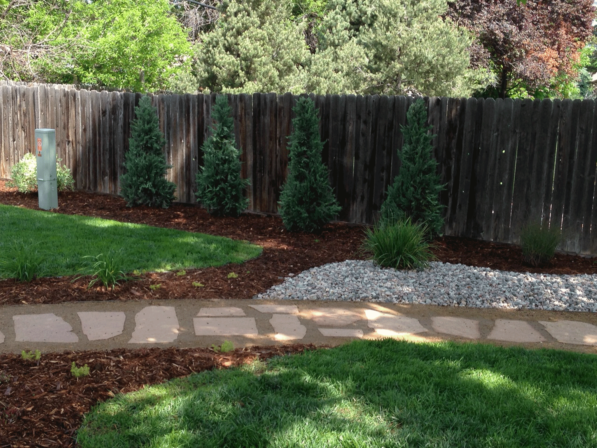 Backyard Renovation With Flagstone Patio (Dog Friendly Design .