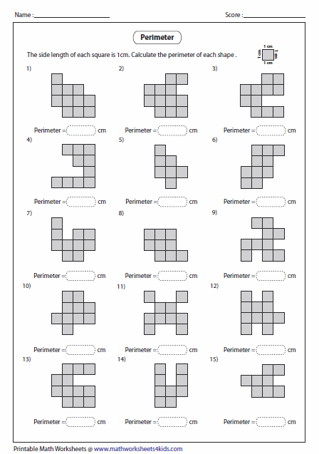 Counting Squares | Math Resources | Pinterest | Perimeter ...