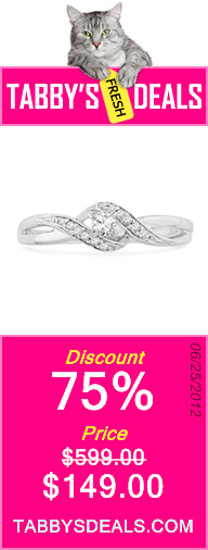 10KT White Gold Round Diamond Twisted Promise Ring (0.12 cttw) $149.00