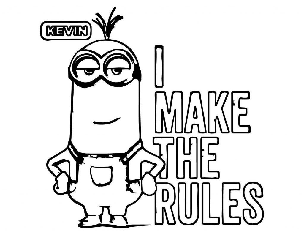 Minions Kevin Perfect Coloring Page Minion Coloring Pages