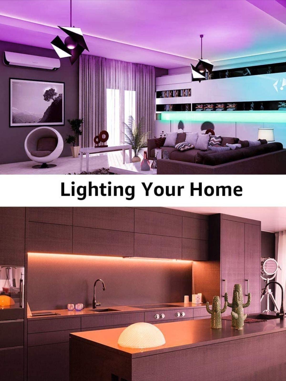 Changing Tape Light With 12v Power Supply For Room Bedroom Tv Kitchen Desk In 2021 Led Strip Lighting Strip Lighting Led Room Lighting