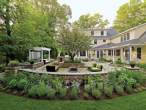AndersonLandscapeYellowHouse Backyard landscaping Backyard