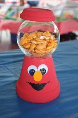 Elmo Centerpiece Elmo Birthday Party Kids Party Decorations Birthday Invitations Diy Girl