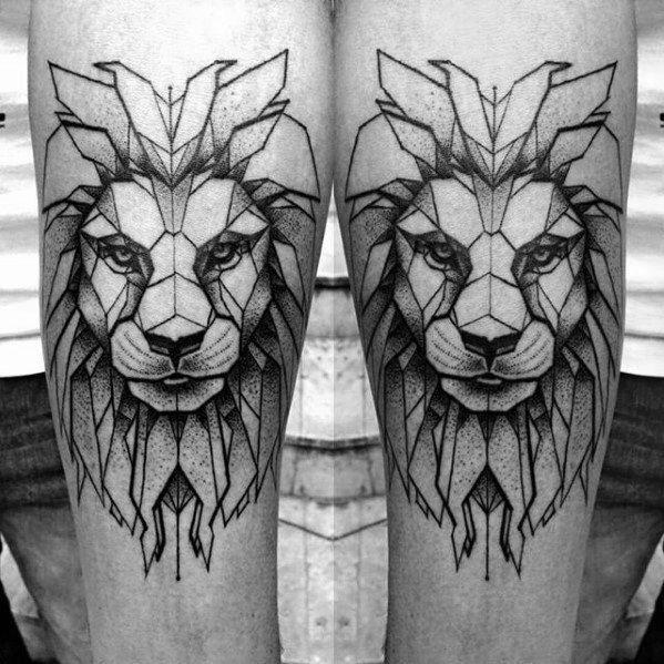 Top 57 Geometric Lion Tattoo Ideas 2020 Inspiration Guide Geometric Lion Tattoo Geometric Lion Lion Tattoo