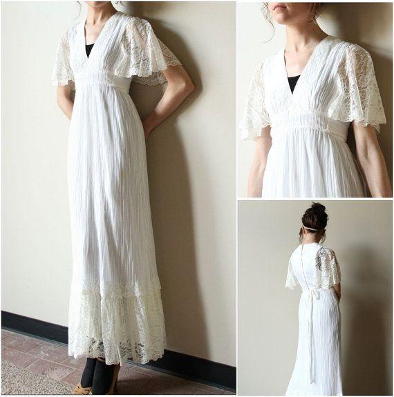 70s Boho Wedding Dress Vintage Hippie Ivory Off White Cream Etsy Vintage Wedding Dress Boho Boho Wedding Dress Hippie Dresses