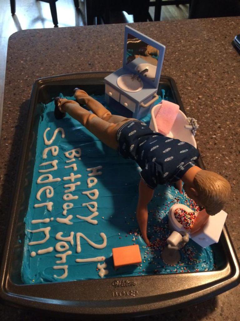 21st birthday cake for him! birthday 21stbirthday 21st