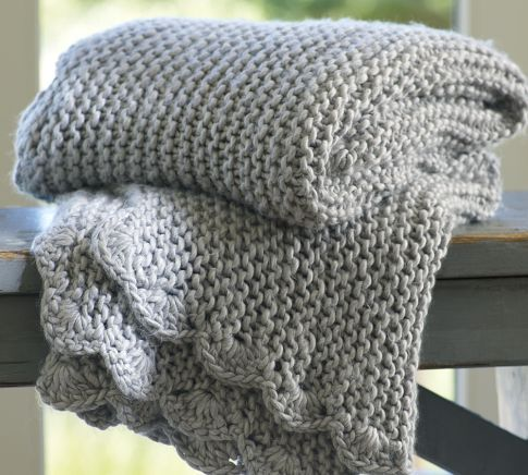 Scallop-Knit Throw from Pottery Barn to make things extra cozy.