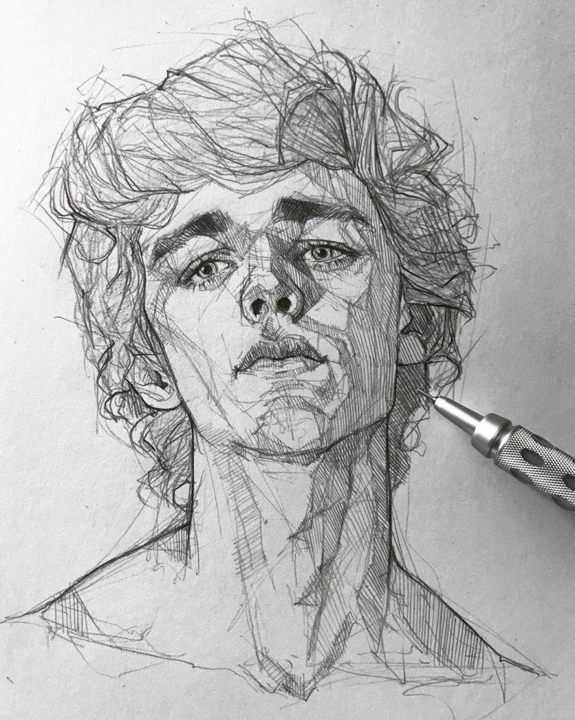 Artist Sketch Drawing