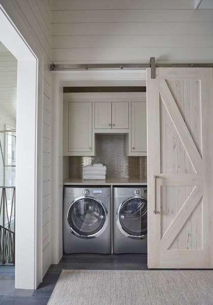 Barn Door Closet For Laundry Room