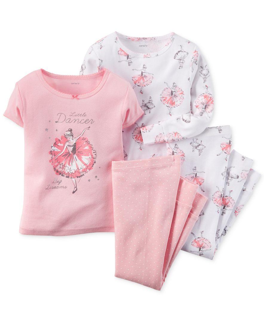f2f671fae Carter s Baby Girls  4-Piece Ballerina Pajamas