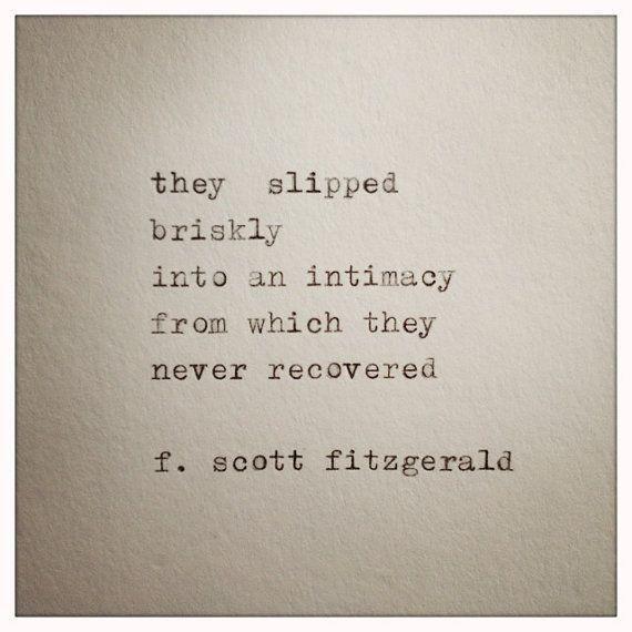 F. Scott Fitzgerald Love Quote Made On Typewriter, typewriter quote