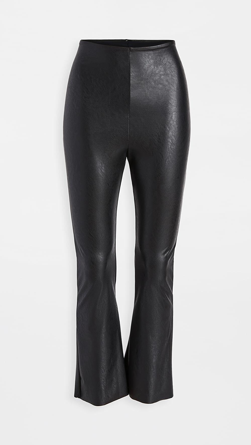 Commando Faux Leather Cropped Flare Leggings   Flare leggings ...