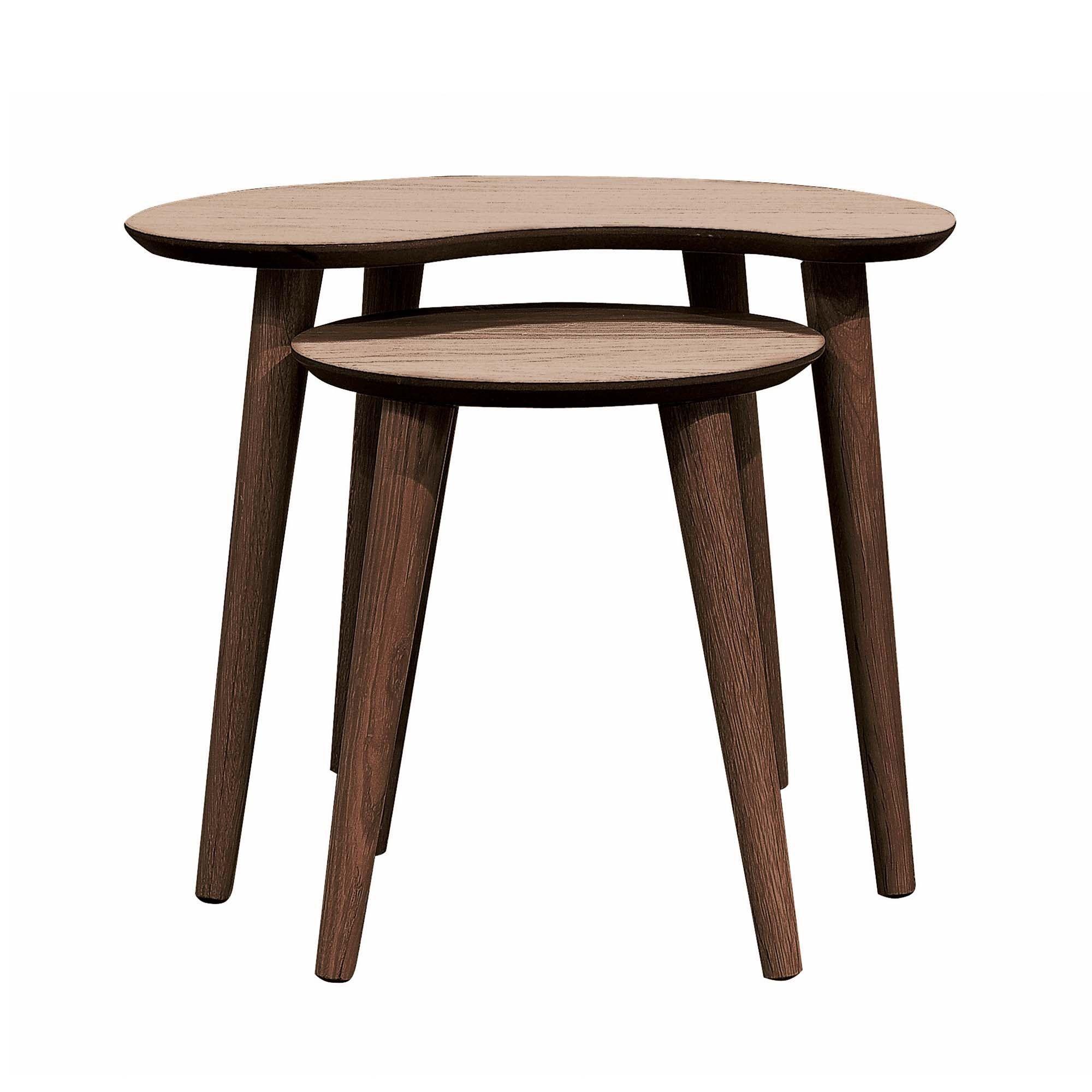 Skandi Walnut Nest Of Lamp Tables Nesting Coffee Tables Walnut Table Table [ 2000 x 2000 Pixel ]