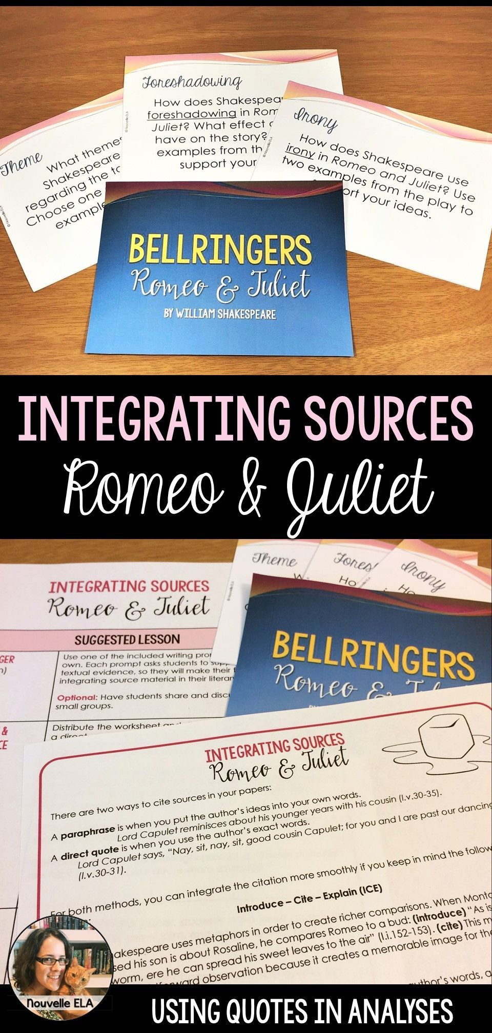 This Lesson Introduces The Idea Of Integrating Sources In Literary Analysis Using The Format Of Introdu Being Used Quotes Shakespeare Lessons Teaching Writing
