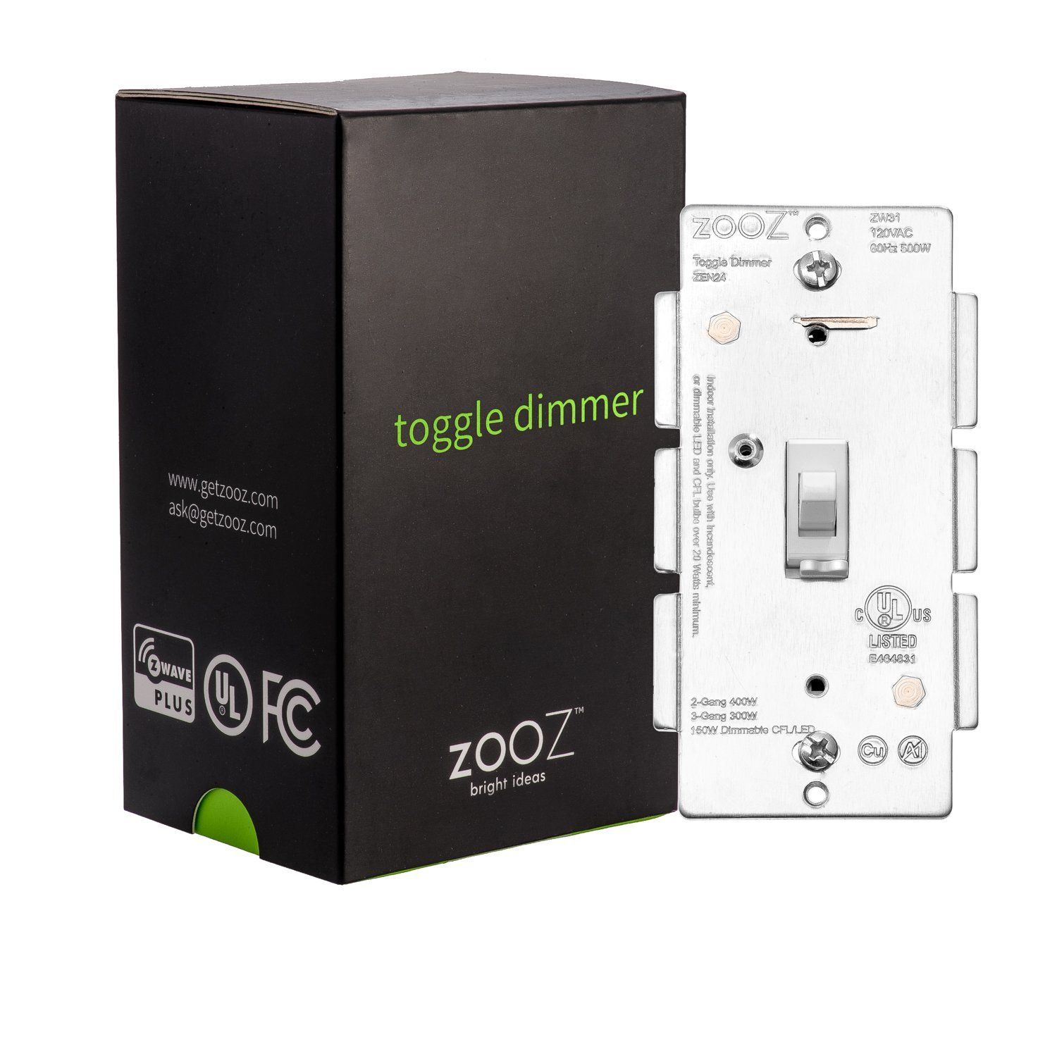 Zooz Z-Wave Plus Toggle Dimmer Light Switch ZEN24 VER 2.0 (White ...