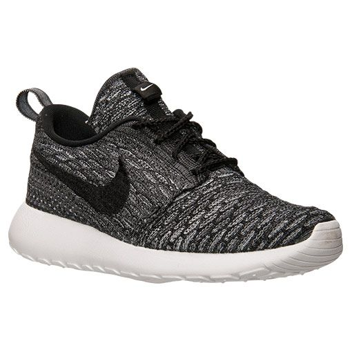 finish line nike roshe flyknit grey