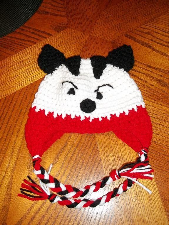 Wisconsin Bucky Badger Earflap Hat | Crochet Hats | Pinterest