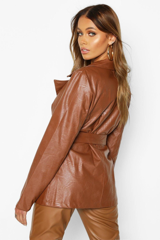 Wrap Belted Faux Leather Jacket Boohoo Black Faux Leather Jacket Faux Leather Jackets Leather Jacket [ 1500 x 1000 Pixel ]