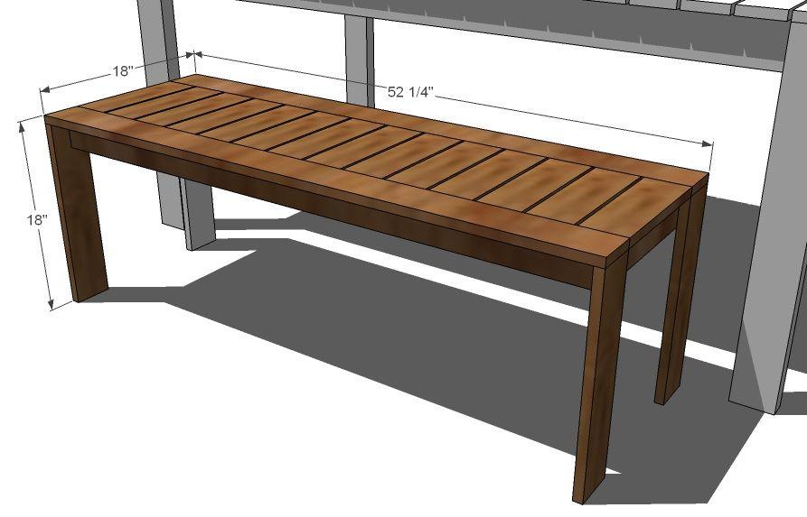 Ana white build a build a simple outdoor bench diy for Simple garden bench designs
