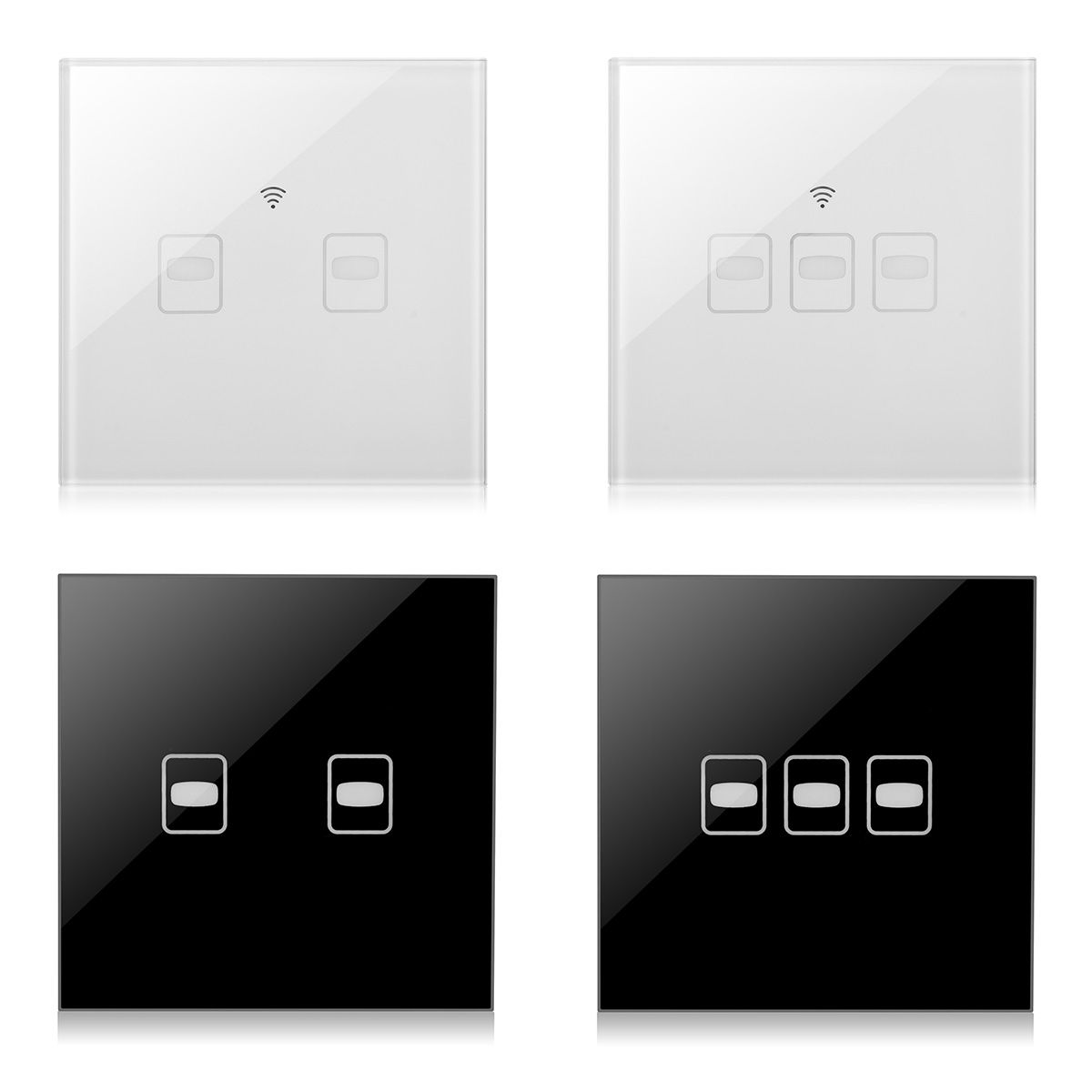 Ac110 265v 2 3 Gang Smart Touch Wall Light Switch Panel With Remote Control Eu Standard Light Accessories Light Switch Remote Control