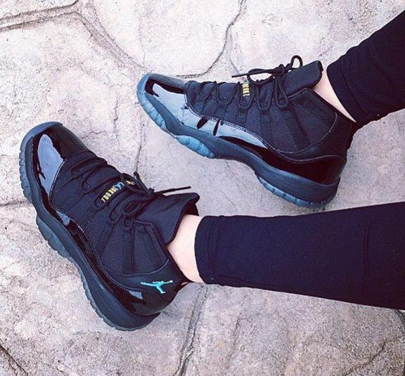 Nike Air Jordan Retro XI 11 Black Gamma