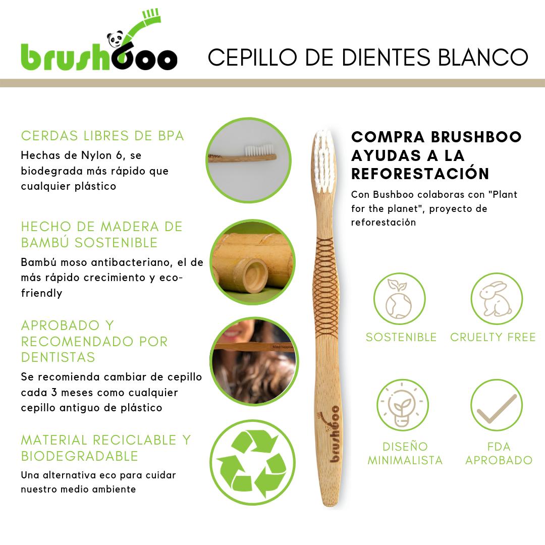 Pack Premium Brushboo El Cepillo De Dientes De Bambú Natural Y Ecológico Cepillos De Dientes Cepillo Cuidado Del Cuerpo