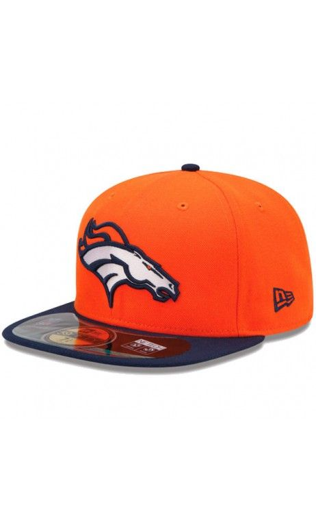 61ff84cb7 NFL Mens Denver Broncos New Era Orange/Navy Blue On-Field Player Sideline  59FIFTY Fitted Hat #football #hat