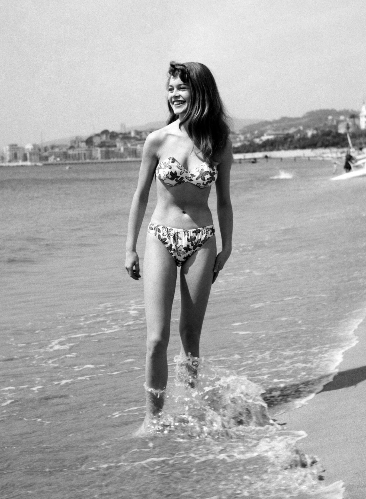 Celebrity photos brigitte bardot topless on a beach photo print