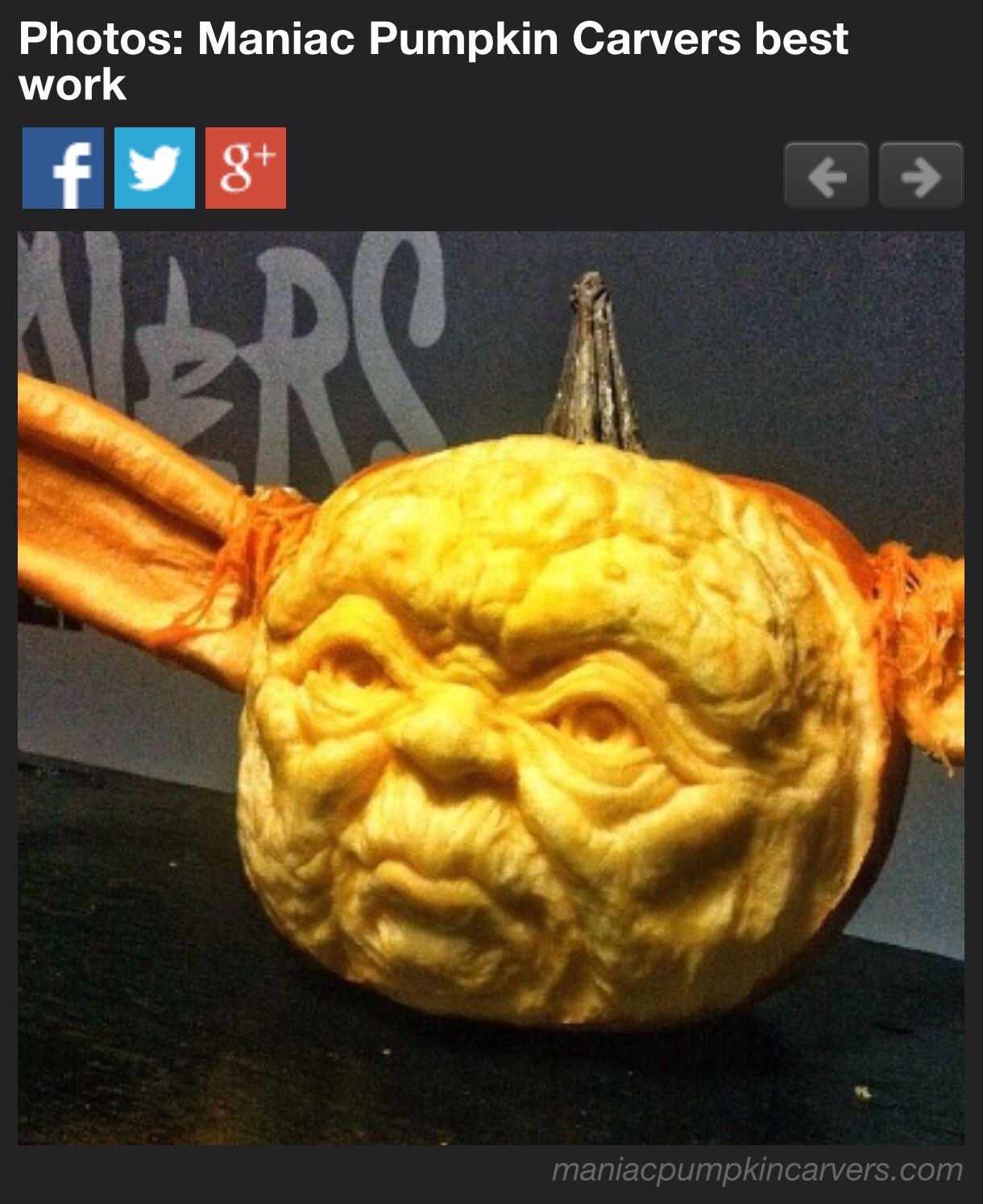 Pumpkin carving at its best yoda holidays pinterest pumpkin