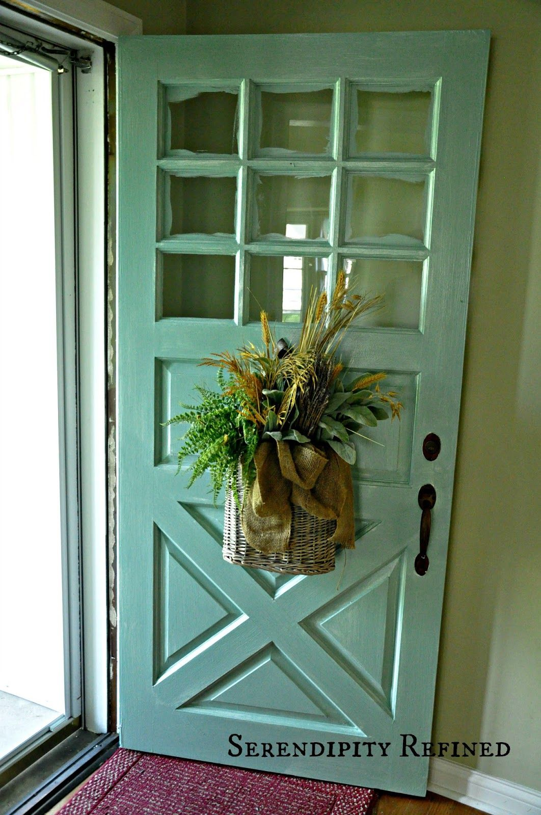 Serendipity Refined Blog: Turquoise Painted Wood Exterior Doors ...