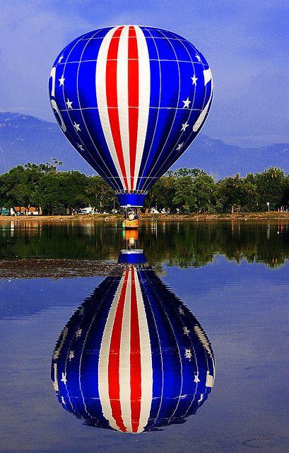 stars & stripes hot air balloon