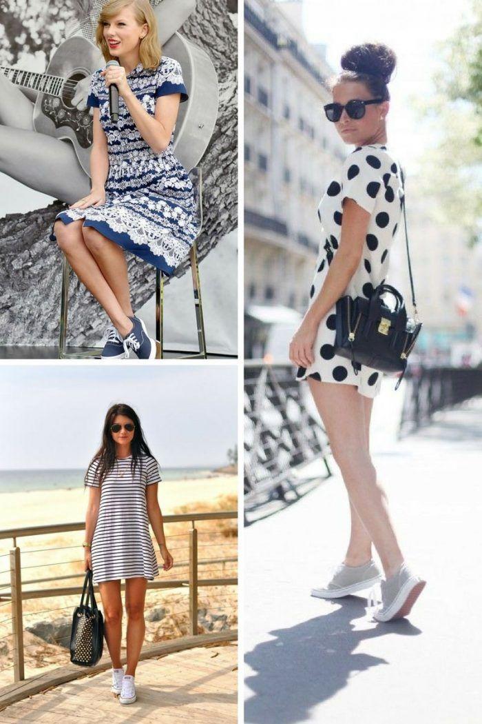 25 Turnschuhe mit Kleidern