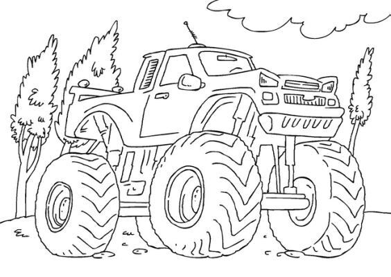 Pin By Rebecca Miller On Monster Truck Party Monster Truck Coloring Pages Monster Truck Drawing Truck Coloring Pages