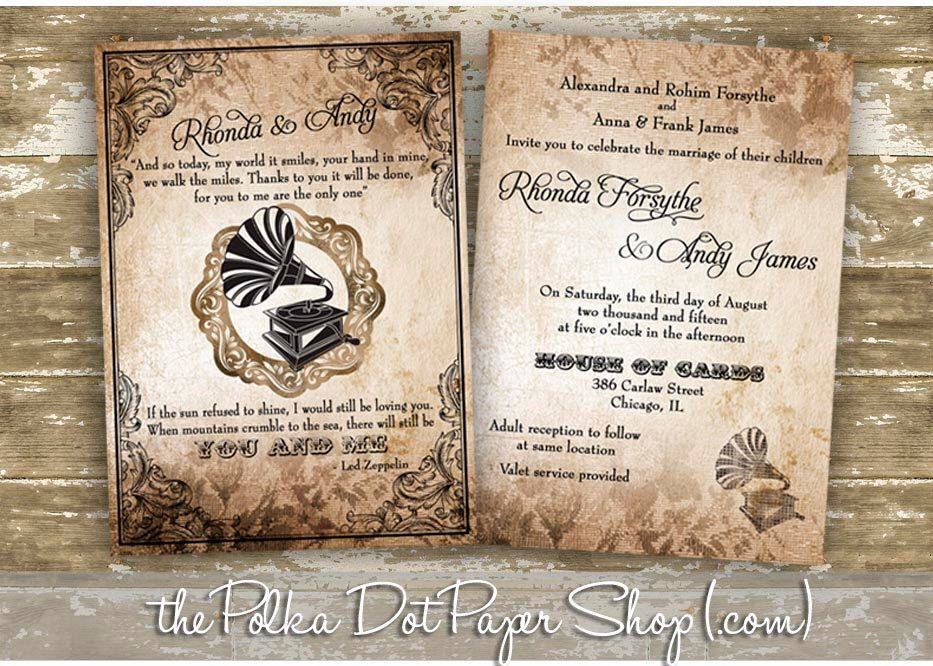 A personal favorite from my etsy shop httpsetsyca rustic wedding invitation led zeppelin quote by polkadotinvites junglespirit Images