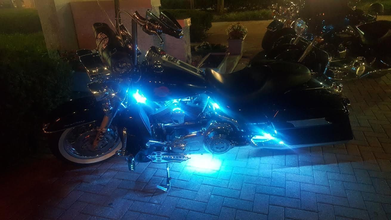 12 Pcs Motorcycle Led Light Kit Strips With Bluetooth Remote
