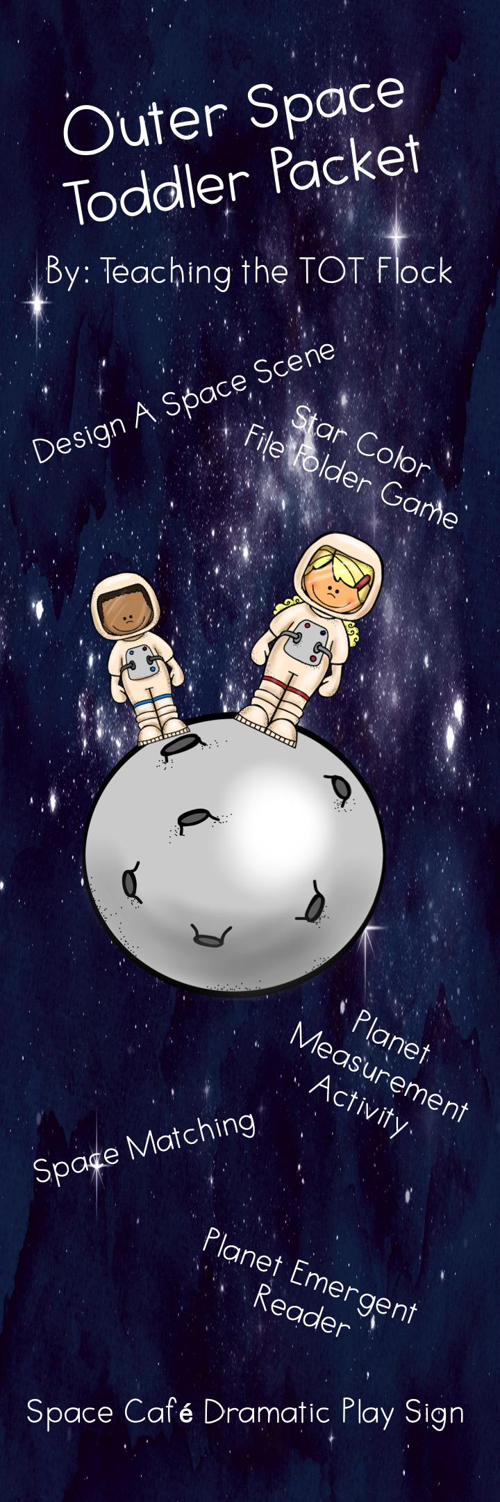 Space Toddler Packet in 2020 Toddler teacher, Teaching