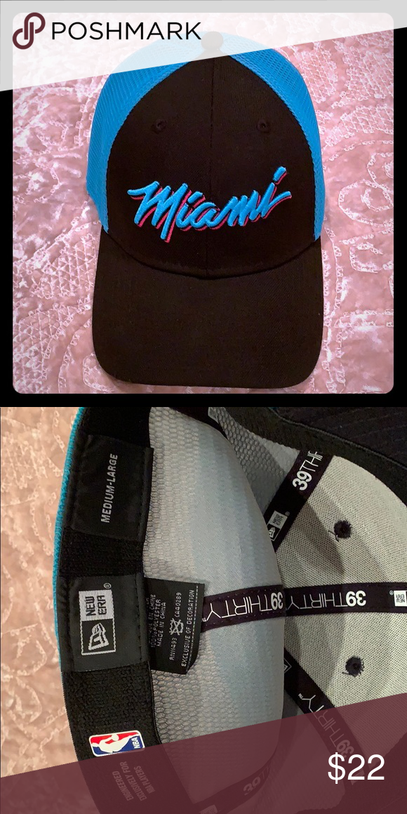 wholesale dealer 9efd8 e703a Miami Heat New Era 2018 NBA Hat (never worn) New Miami heat hat!
