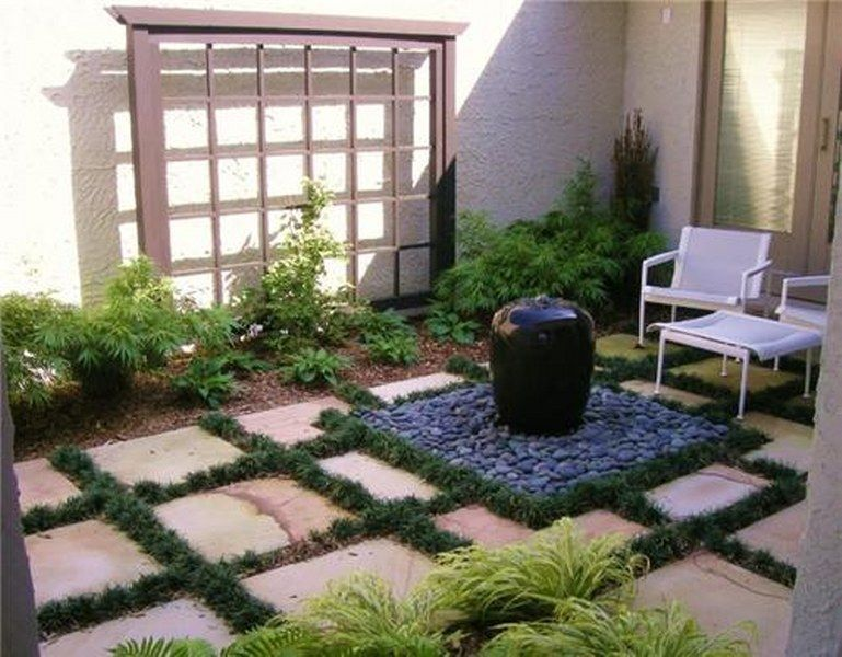 Small Front Yard Courtyards - small yard landscaping ideas