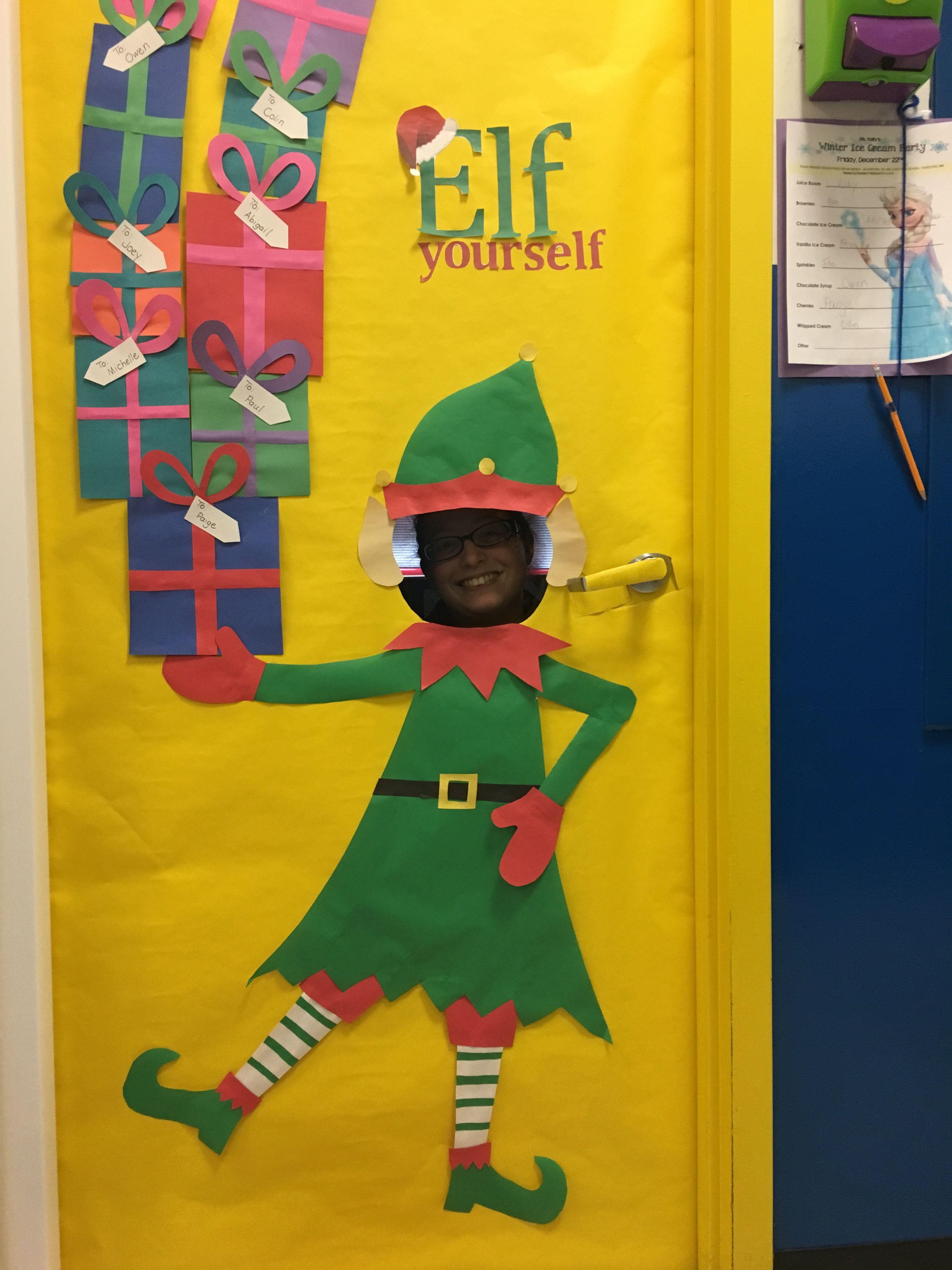 Elf Yourself Door